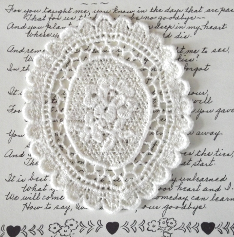 Flower lace oval large