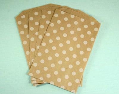Kraft dot bags