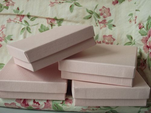 Pink square boxes