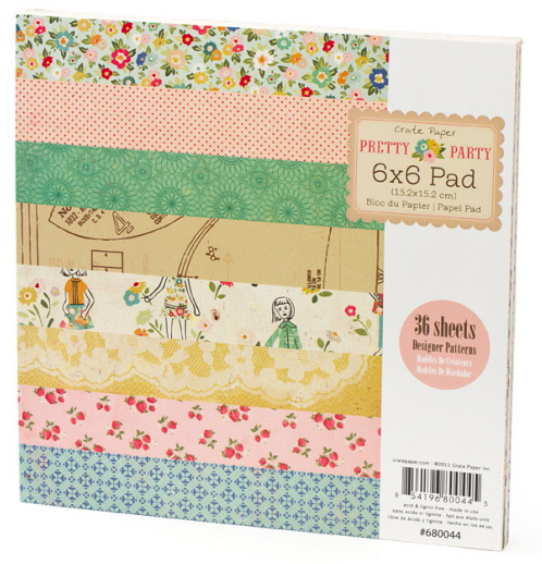 Pretty party paper pad