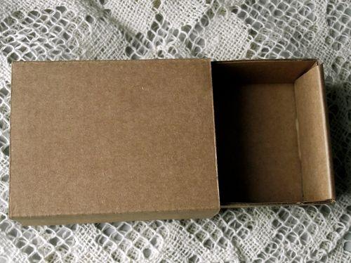 Kraft sliding box
