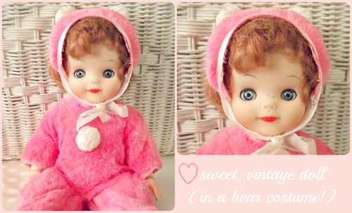 Bear doll collage