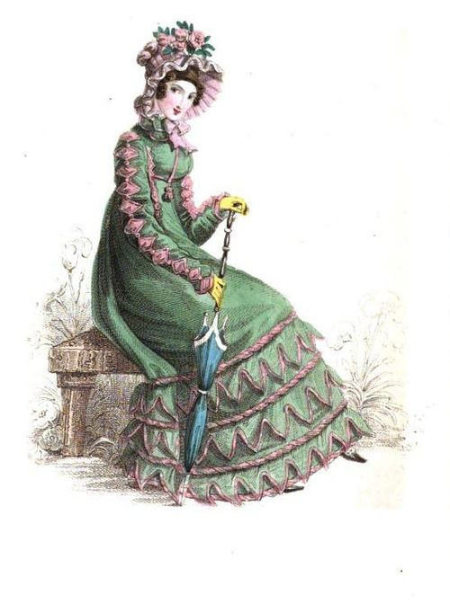 Green regency lady