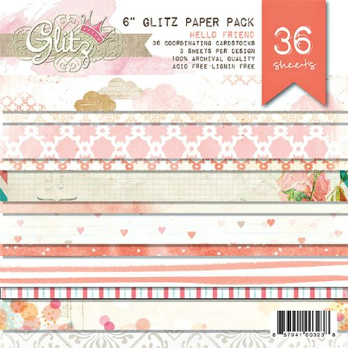 Glitz Hello Friend 6x6 Pad