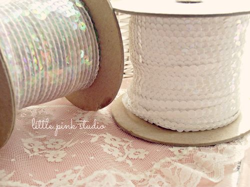 Vintage sequin trims