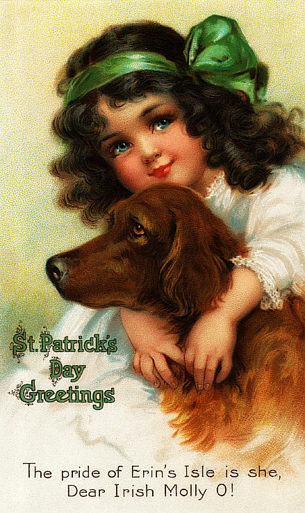 St pats girl dog