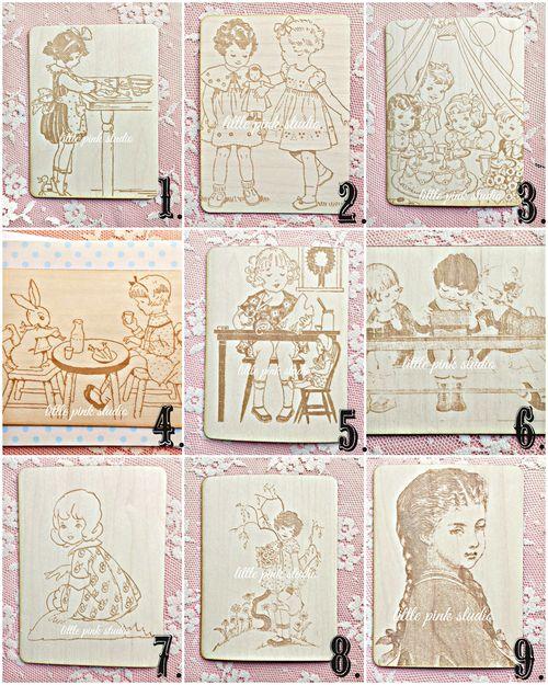 Nostalgic veneer collage