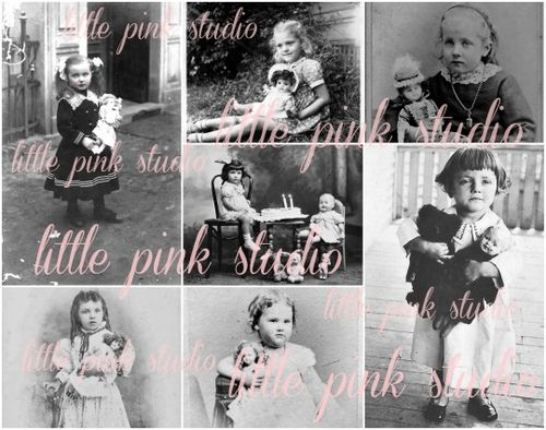 Lps girls and their dolls collage lg