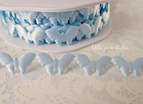 Blue butterfly trim
