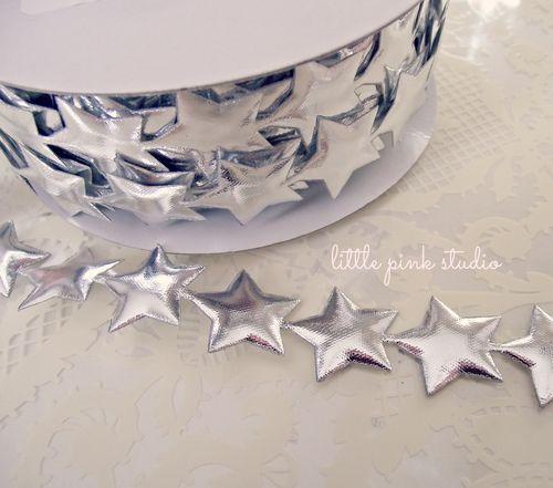 Silver stars trim