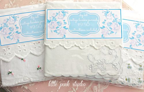 White hankie book kits lg