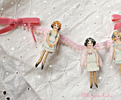 Angel doll garland