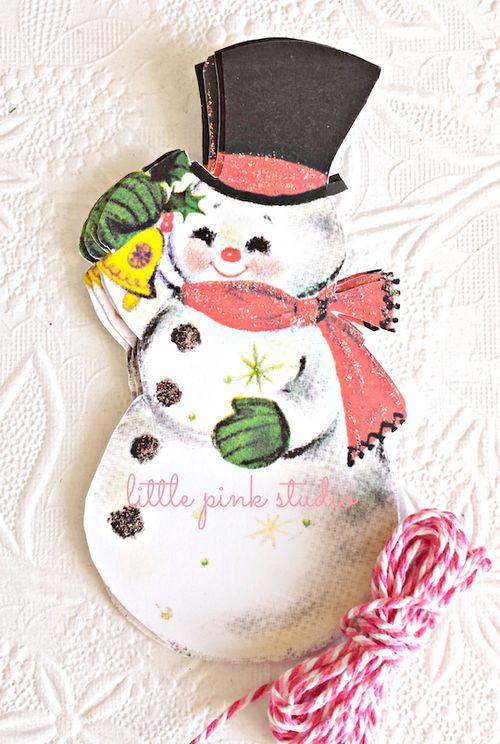 Jolly snowman tags lg