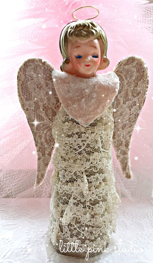 Vintage angel topper