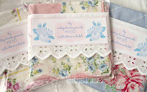 Vintage hankie journal kits